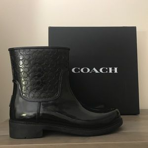 Coach Signature Rain Boots Size 11 NEW
